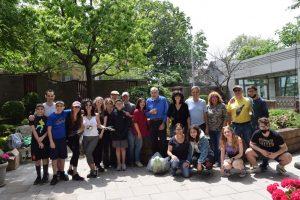group shot of plant garden workers and volunteers