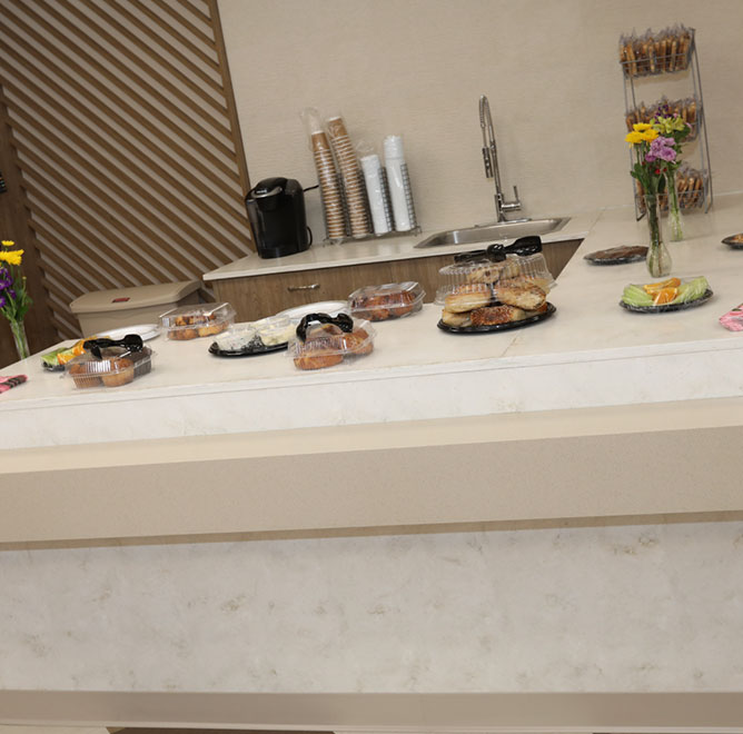 Kosher food on display at Margaret Tietz